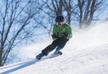 ски през зимата